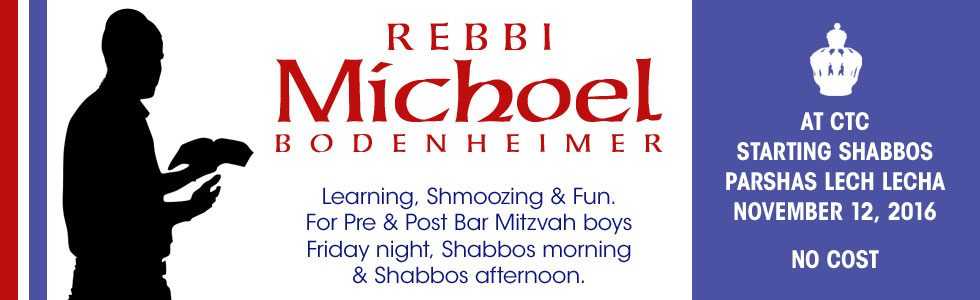 Rebbi Michoel Bodenheimer for Our Boys