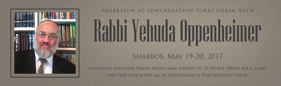 Shabbaton with Rabbi Yehuda Oppenheimer