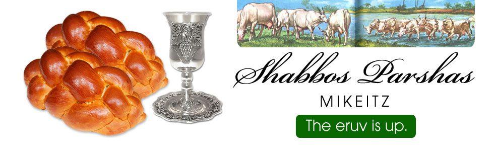 Shabbos Schedule Mikeitz, Chanukah 6, 5779