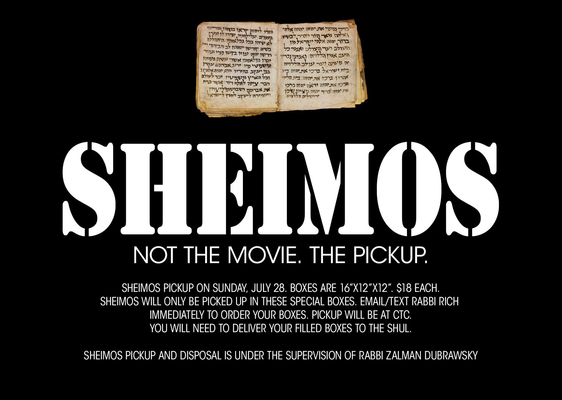 SHEIMOS: NOT THE MOVIE. THE PICKUP