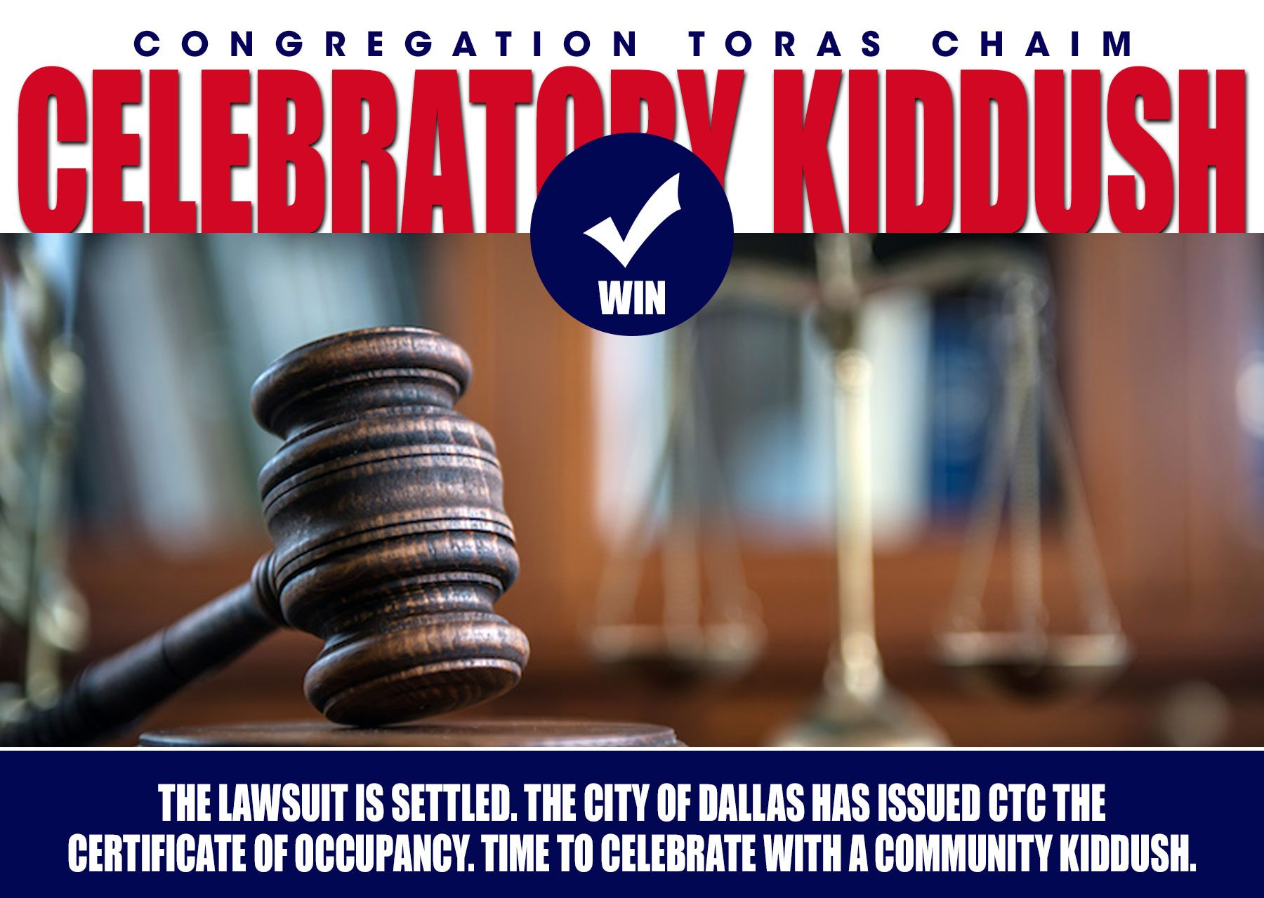 CTC Celebratory Kiddush