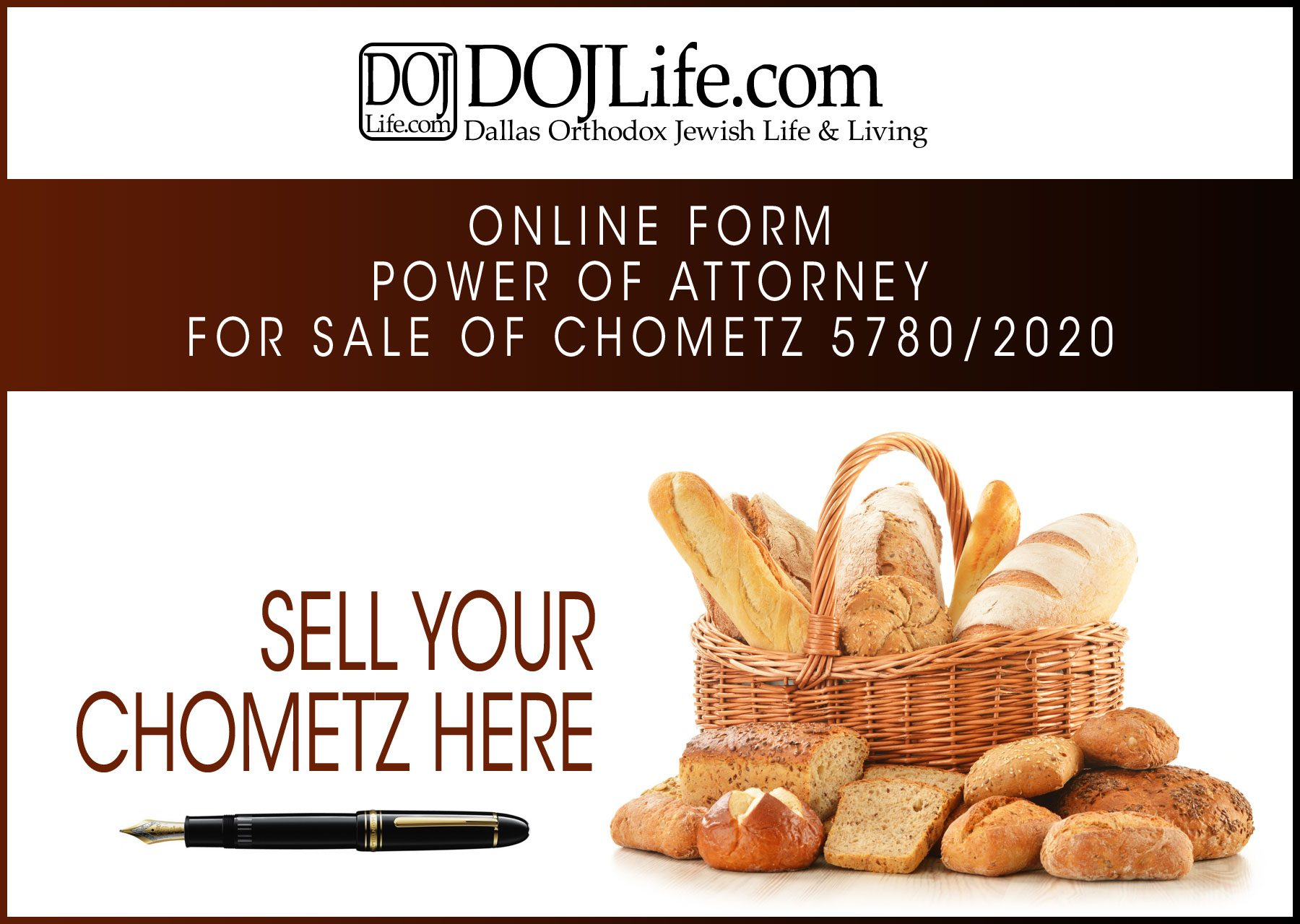 Online Power of Attorney for Sale of Chometz Form 5780/2020