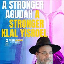 A Stronger Agudah. A Stronger Klal Yisroel.