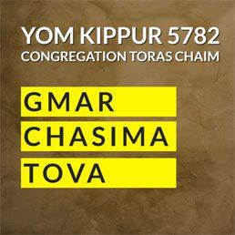 Yom Kippur Schedule 5782